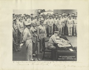 Japanese Surrender (signed photo)
